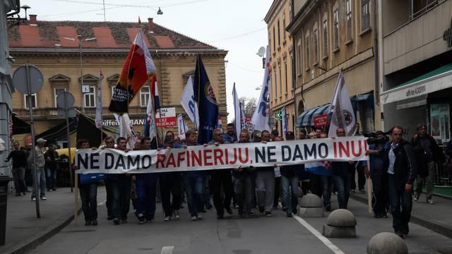 prosvjed radnika INA-e