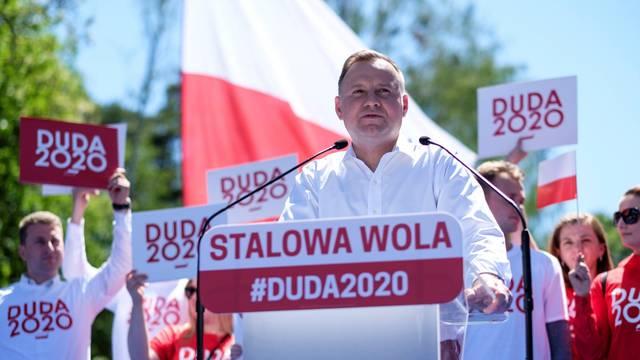 Polish President Andrzej Duda attends election rally in Stalowa Wola
