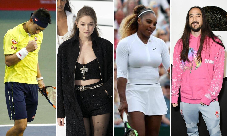 'Grand slam' u parovima: Steve Aoki i Nishikori, Serena i Hadid