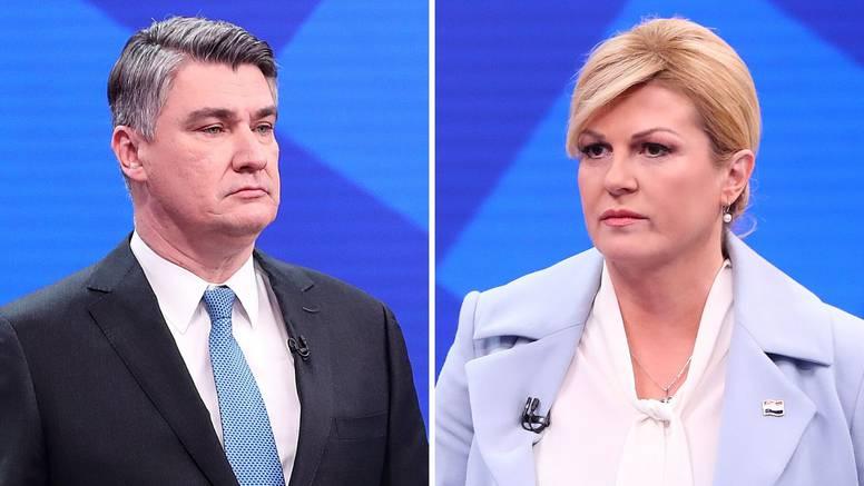 Bit će fotofiniš: Milanović 'za dlaku' ispred Grabar-Kitarović
