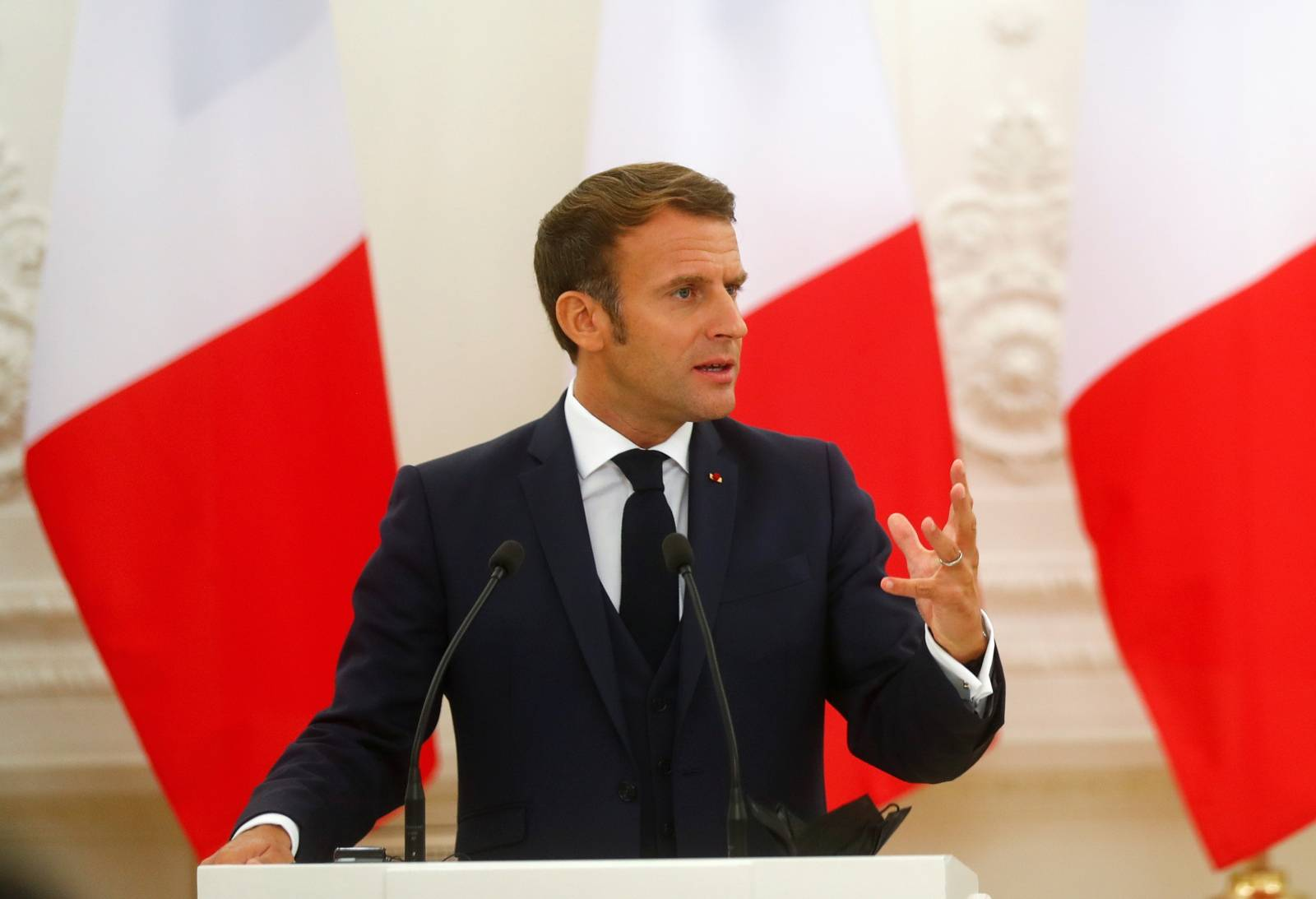 French President Emmanuel Macron visits Lithuania