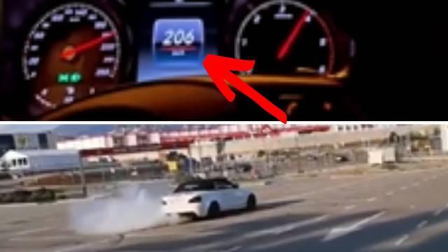 Divljak iz Rijeke vozi se preko 200 km/h i stavlja snimke na internet; Policija: Znamo za to
