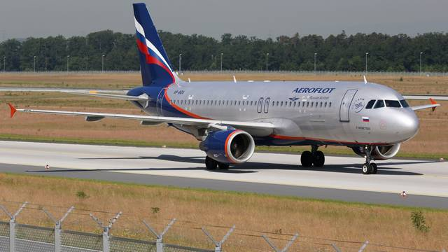 Aeroflot Airbus A320 airplane at Frankfurt international airport