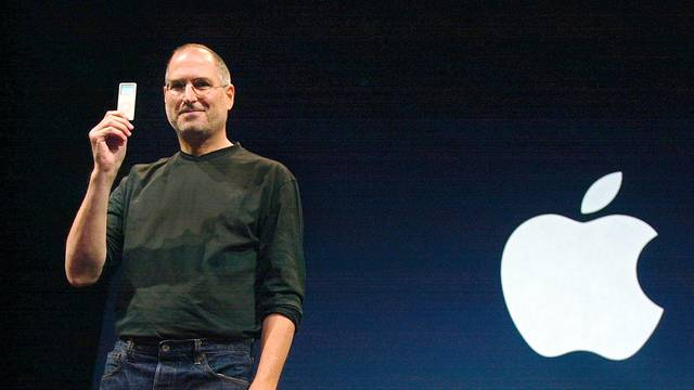 Apple CEO Steve Jobs introduces the newest iPod, the iPod Nano...