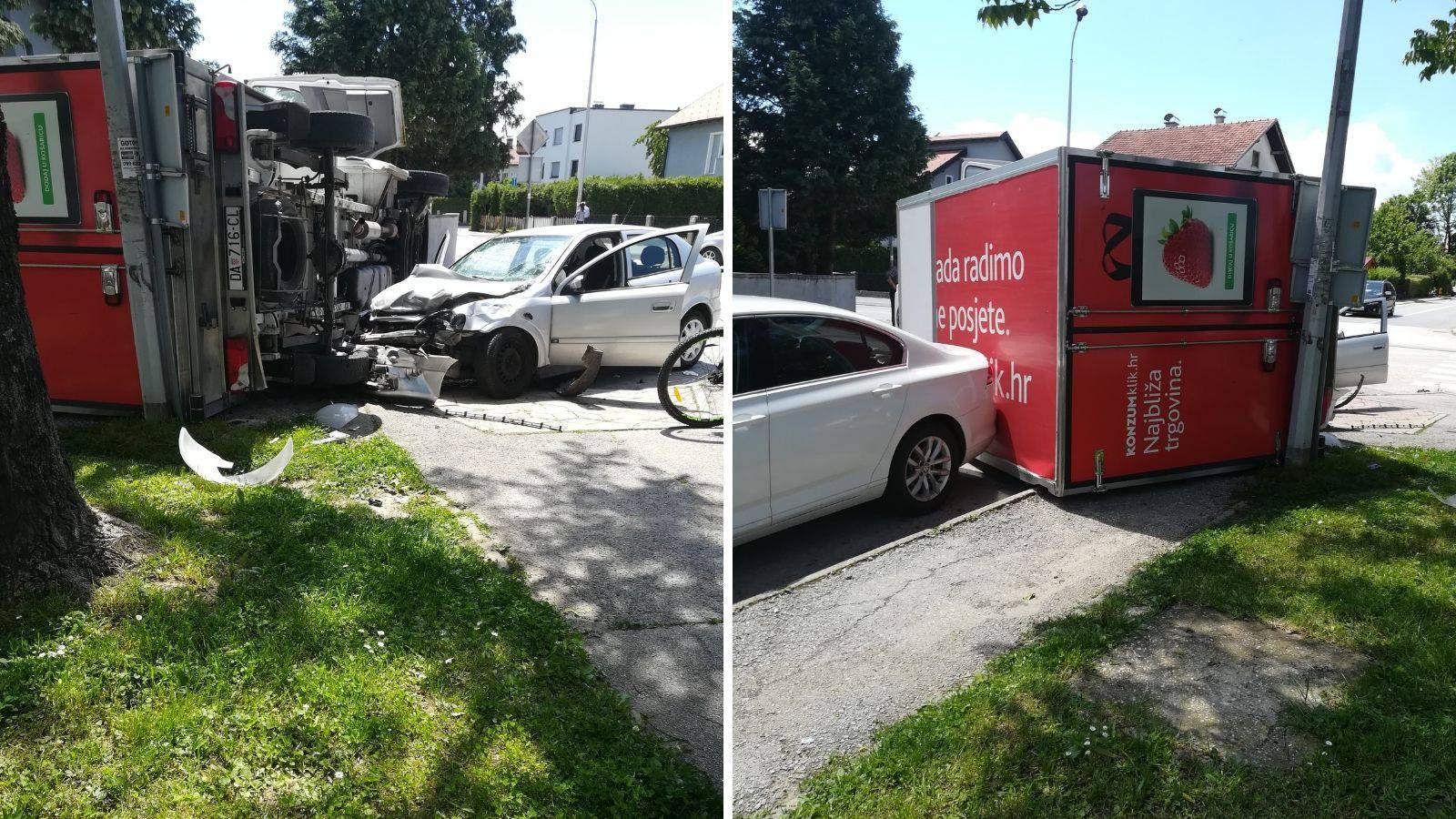 Dvoje ljudi ozlijeđeno u sudaru dostavnog vozila i automobila