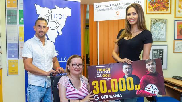 Tisuće razloga za gol – 30.000 kuna i za Društvo distrofičara Istra