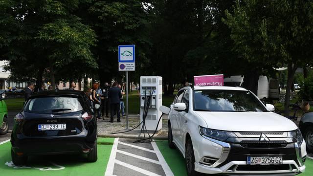 U Bjelovaru otvorena prva e-punionica za električne automobile