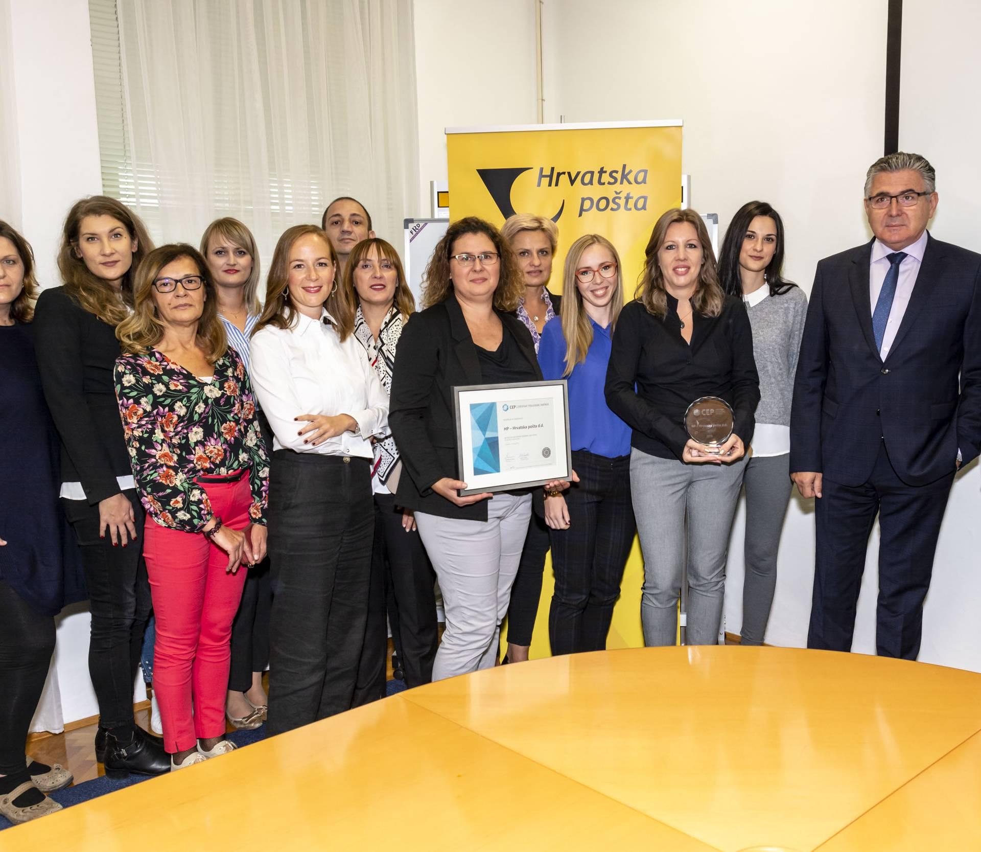 Hrvatskoj pošti treći put certifikat Poslodavac Partner