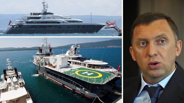 Sputnik u Splitu na remontu: Rus Deripaska na brodu čuva helikopter i igračke za more