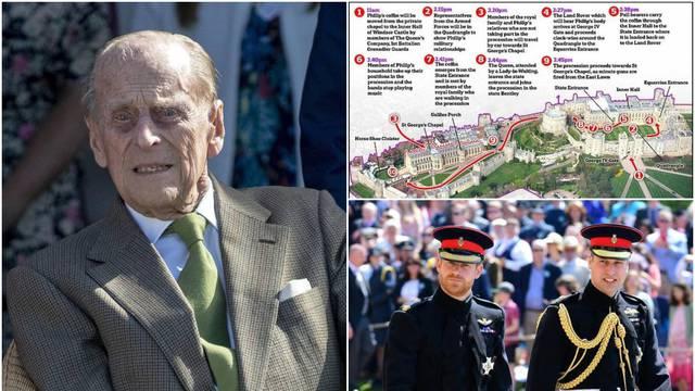 Detalji sprovoda princa Philipa: Prisustvovat će 30 ljudi, kraljica razdvojila Williama i Harryja...
