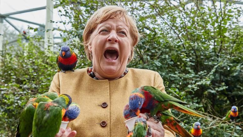 FOTO Merkel ugrizla ptica. Izlet u zoološki vrt završio vriskom