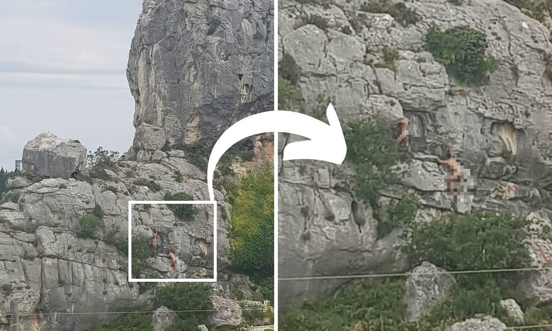 Ultra ludilo: Bez krpice na sebi Francuzi se penjali na stijenu
