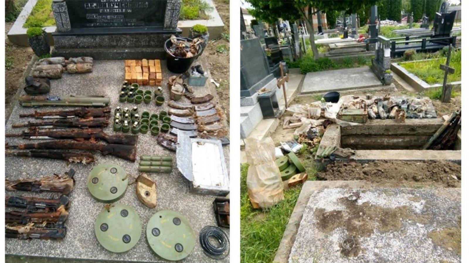 U grobnici žene umrle 1945. pronašli puške, bombe, mine...