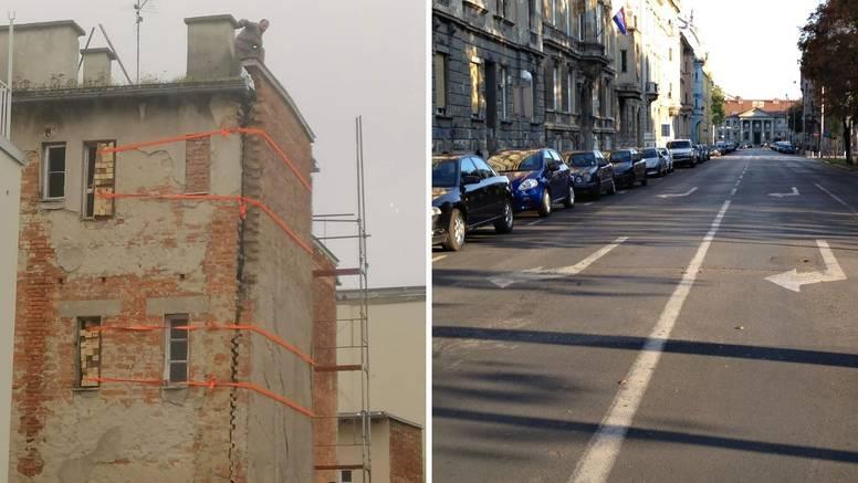 Ovo je zgrada u centru Zagreba, zid od rušenja čuvaju sajle: 'Pa tu ispred je vrtić. Bez riječi sam'