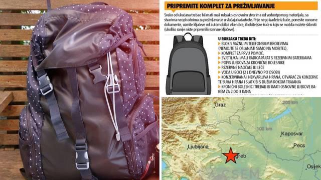 Budite pripremljeni za potres: Što sve trebate imati u ruksaku