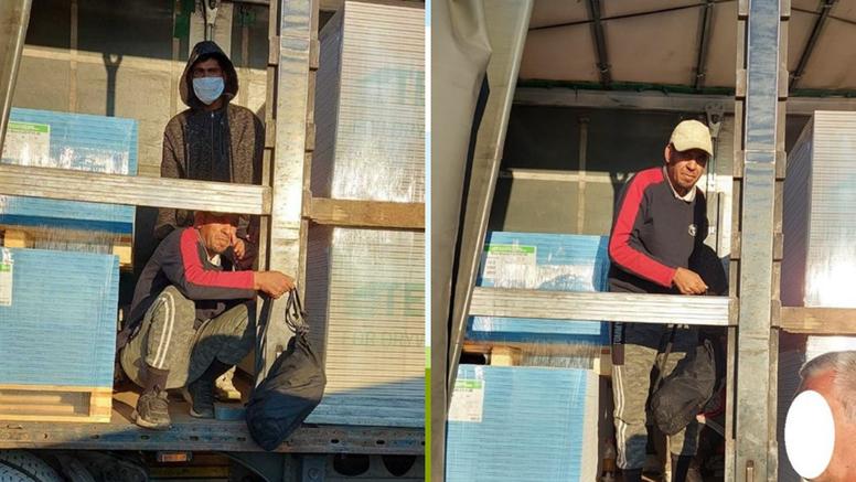 Radnici su na gradilištu otvorili kamion s gipsom iz Bugarske i pronašli - dvojicu migranta