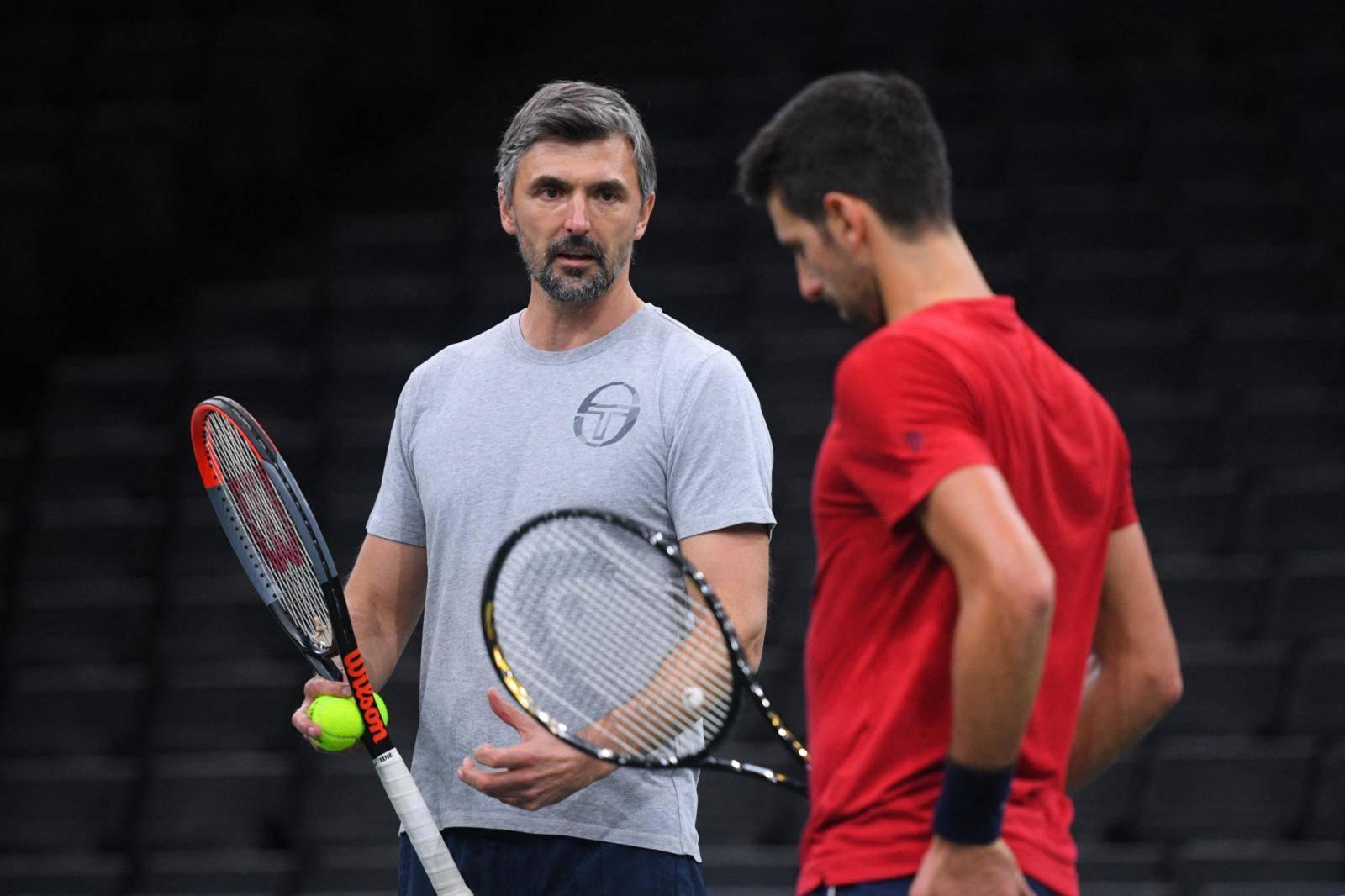 Rolex Paris Master - Novak Djokovic Training