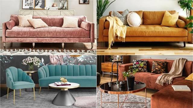 Prava kraljica svakog dnevnog boravka: Baršunasta sofa može 'zagrijati' i podići sve interijere