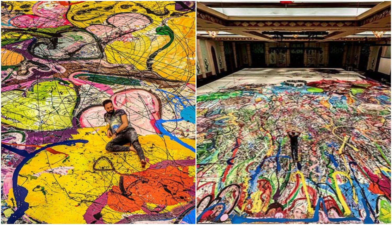 Britanski umjetnik radi najveću sliku na platnu na svijetu kako bi srušio rekord i pomogao djeci