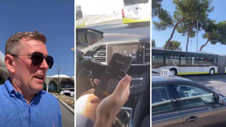 Split: Taksist mu htio naplatiti 900 kuna za vožnju od hotela do zračne luke, on sve snimio
