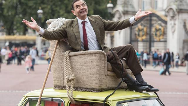 Mr Bean at Buckingham Palace