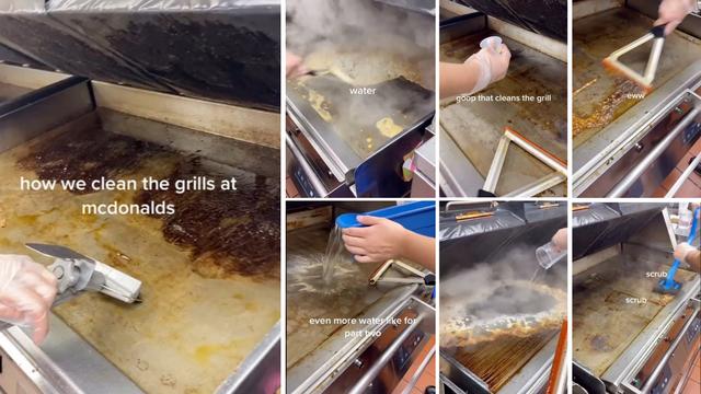 Zaposlenik McDonald'sa otkrio kako čiste ploču na kojoj se cijeli dan peku hamburgeri