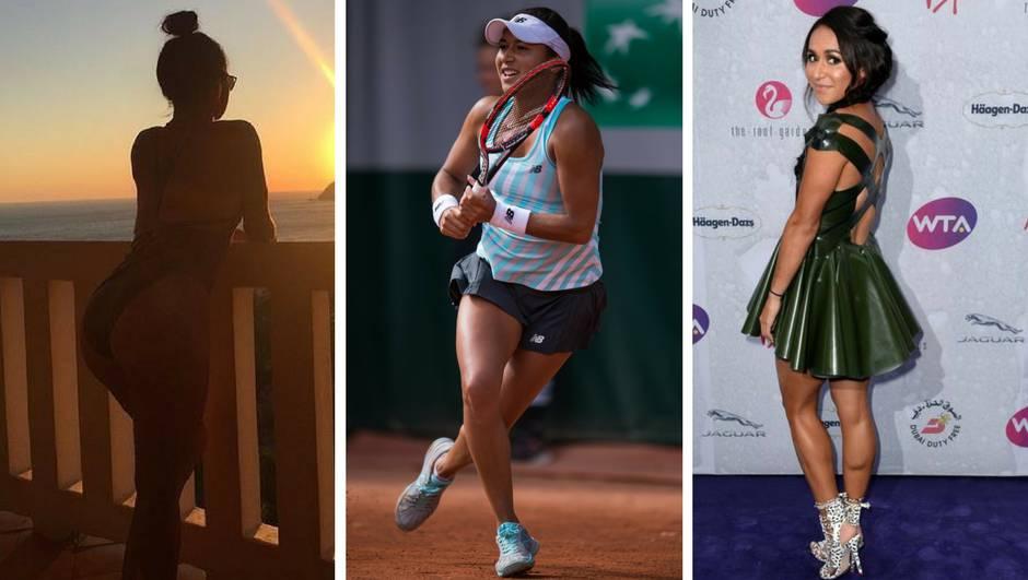 Mlada tenisačica gleda zalazak sunca, a svi ostali nešto drugo