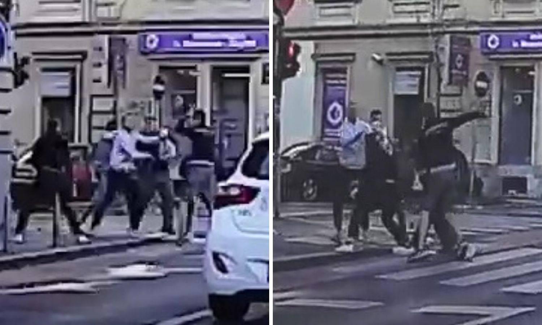 Snimka iz Zagreba: Žestoko su se mlatili, a auti su prolazili...