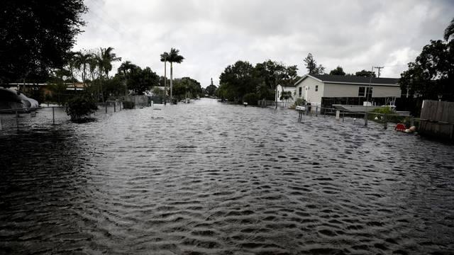 Flood caused by Tropical Storm Eta is seen in Davie