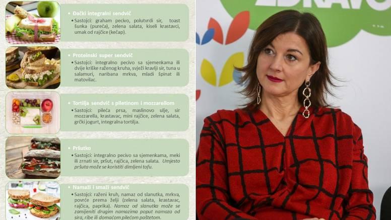 Prva dama Hrvatske školarcima predlaže zdrave i fine sendviče
