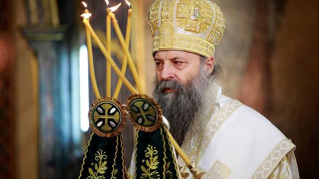 The liturgy at which the solemn act of enthronement of His Holiness Porfirije in the holiest throne of the Archbishop of Pec, Metropolitan of Belgrade and Karlovac and Patriarch of Serbia was performed was served in the Cathedral.Liturgija na kojoj je i