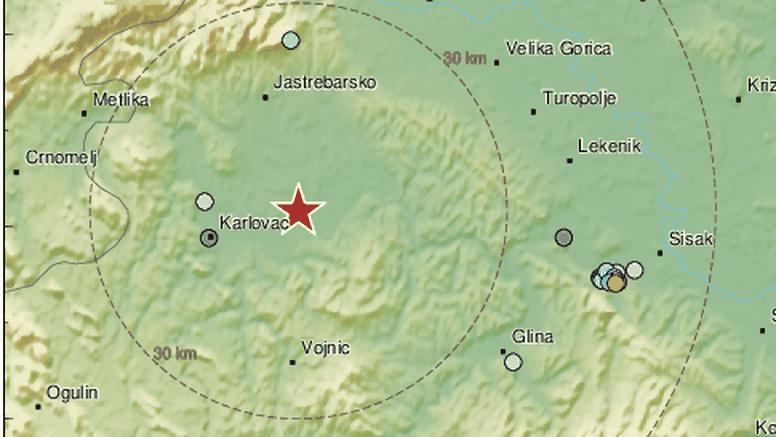 Potres jačine 2.3 blizu Karlovca