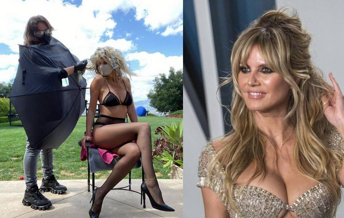 Vruće joj je: Heidi za kućno šišanje izabrala oskudni outfit