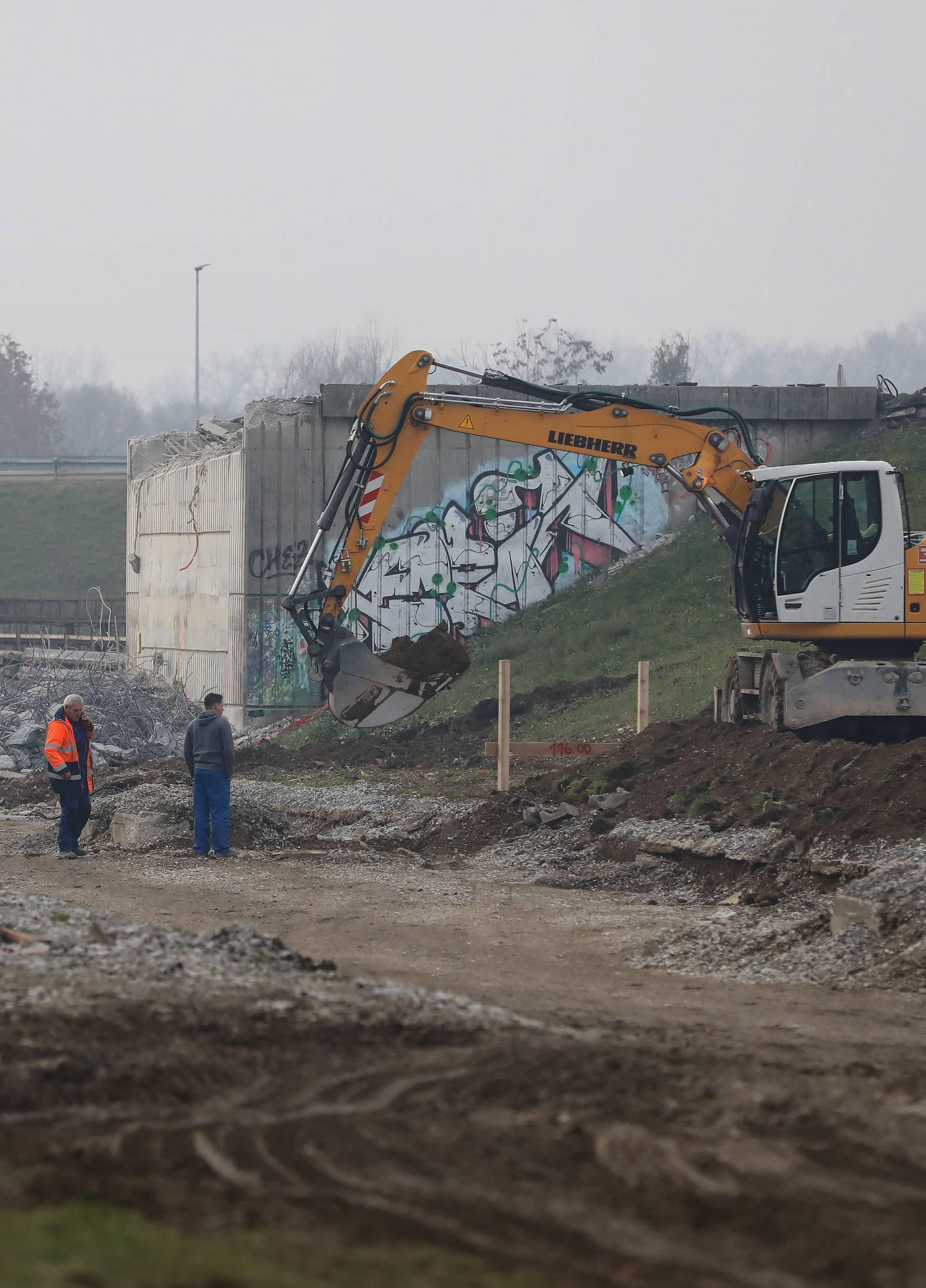 Zagreb: Dio remetinečkog rotora srušen je zbog rekonstrukcije