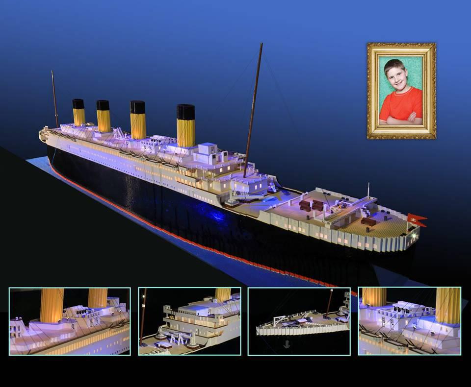 Od Lego kockica: Dječak je izradio najveću repliku Titanica