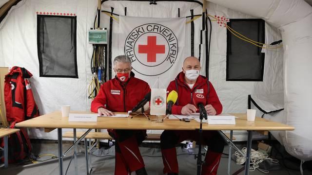 Petrinja: Konferencija za medije Crvenog križa o podjeli novčane pomoći stanovništvu