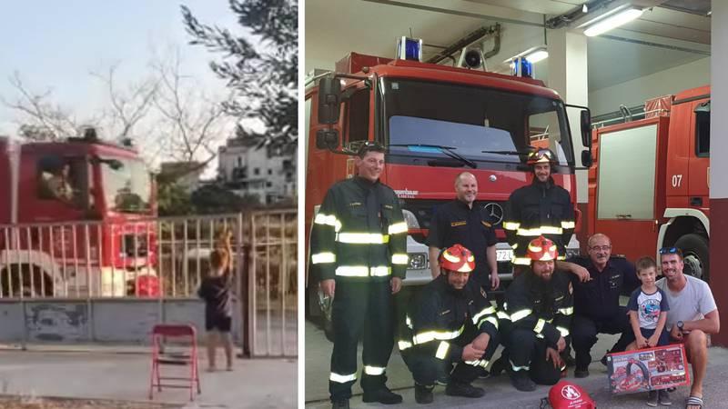 Sjećate se dječaka koji je mahao vatrogascima na Hvaru? 'Vozili smo ga, pitao je za svaki gumb'