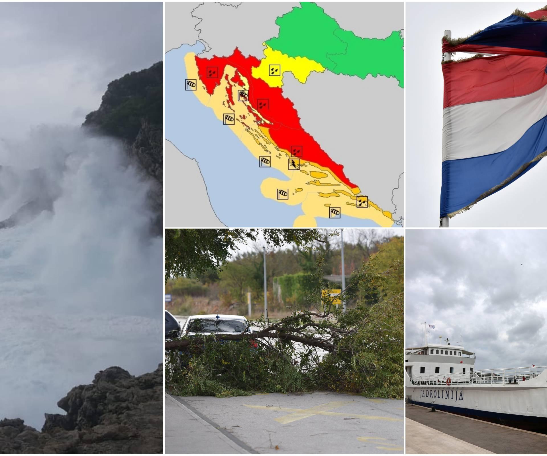 Crveni meteoalarm: Trajekti ne voze, najgore je tek pred nama