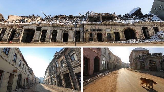 Teška sudbina: U centru Petrinje ostale su samo ruševine i pustoš