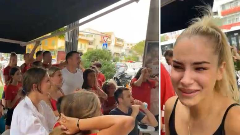 Euforija i suze radosnice: Ovako su kolege Matee Jelić proslavile povijesno hrvatsko zlato!