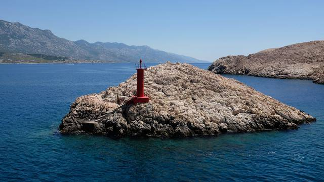 ferry ride from the island of Pag to the Velebit in croatia