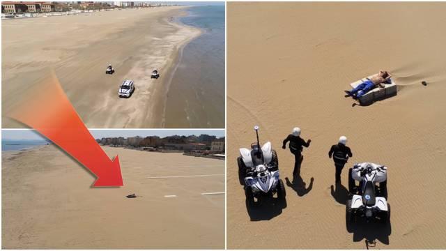 Sunčao se na plaži sam samcat i nadrapao: Policija ga kaznila!