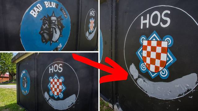 U Vukovaru izbrisan 'Za dom spremni' ispod grafita HOS-a