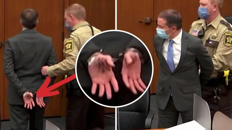 Što je bivšem policajcu ubojici Georgea Floyda pisalo na ruci kad su ga odvodili iz sudnice?