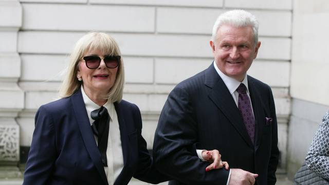 EXCLUSIVE Ivica Todoric and his wife Vesna Todoric are seen arriving at Westminster Magistrates Court in London today. A judge ruled today that the Agrokor founder is to be extradited back to Croatia.