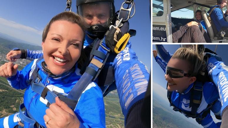 Mehun skočila padobranom: 'To sam dugo čekala, skočila sam i za svog sina! I da, ići ću ponovo'
