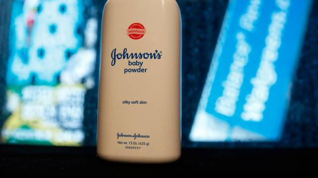 FILE PHOTO: A bottle of Johnson's Baby Powder is seen in a photo illustration taken in New York