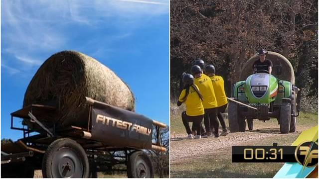 Obitelji trebaju raditi  timski i povući traktor težak 1600 kg