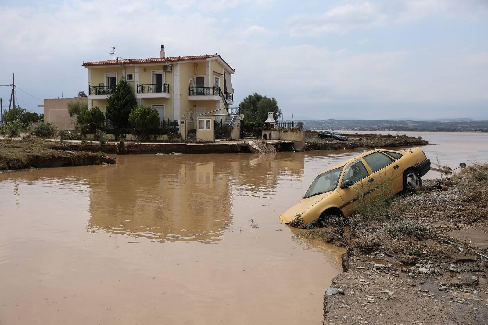 Flash floods on the island of Evia