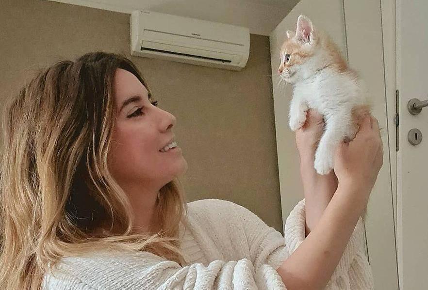 Nives pozirala s mačkom: 'Baš lijepa maca, a slatka gazdarica'